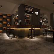 美式咖啡馆吧台装修