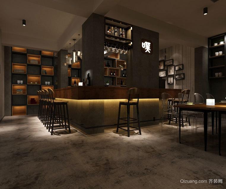 美观大方的咖啡馆吧台装修效果图欣赏大全
