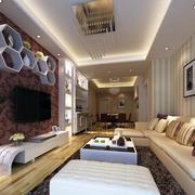 后现代风格客厅置物架设计