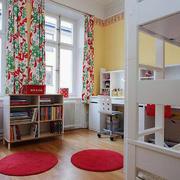 美式简约儿童房上下铺设计