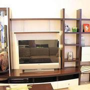混搭风格置物架电视柜装修