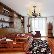 中式客厅床饰装修