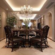欧式餐厅原木桌椅
