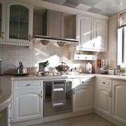 欧式田园风格厨房整体橱柜