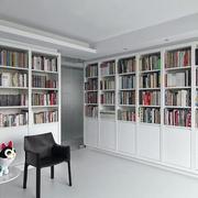 loft客厅整体书柜设计