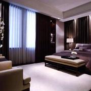 后现代风格卧室简约窗帘