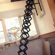 纯铁架收缩楼梯设计