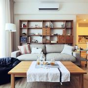 北欧风格客厅原木茶几设计