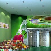 简约风格水果店吊顶设计