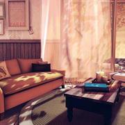 客厅深色飘窗设计