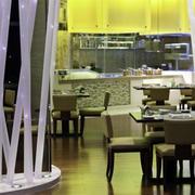 简约欧式西餐厅桌椅装饰