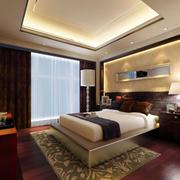 中式卧室大型落地窗装修