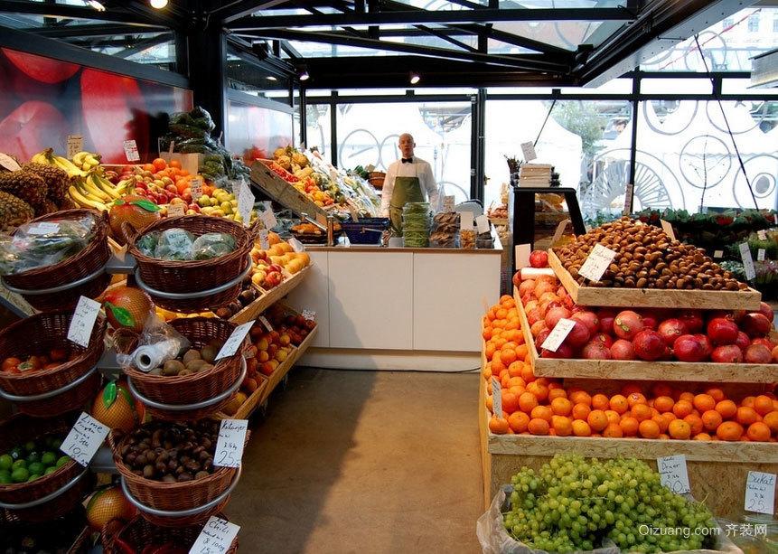 水果的国度:都市街头水果超市装修效果图实例欣赏大全