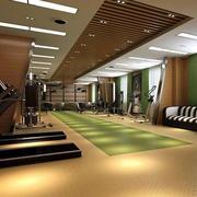 简约风格健身房地板设计