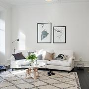 客厅格子地毯设计