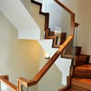 中式风格木制楼梯设计
