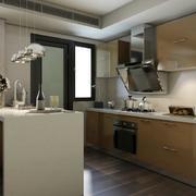 开放式厨房采用灯饰