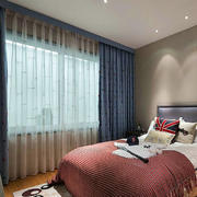简约风格公寓卧室飘窗装饰