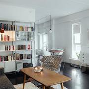 后现代风格客厅书架设计