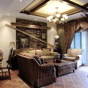 美式客厅沙发装修