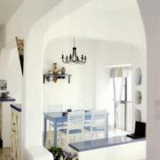 三室两厅客厅拱形门设计