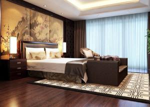 两室一厅中式风格古韵卧室装修效果图