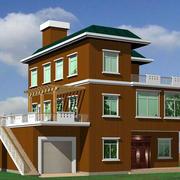 三层双阳台小别墅设计