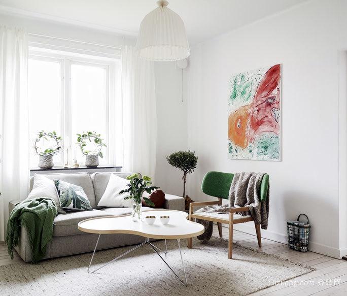 无法不心动 采光充足的北欧风格客厅装修效果图欣赏