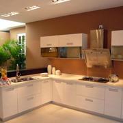 小别墅厨房L型橱柜