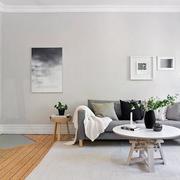 客厅简约圆桌茶几设计