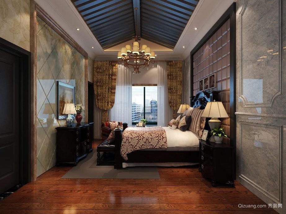 现代美式风格卧室装修效果图展示