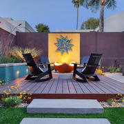 别墅阳台休闲摇椅设计