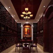 欧式风格酒窖装修