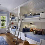 欧式多人间儿童房装修