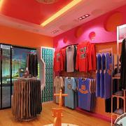简约粉色童装店背景墙设计