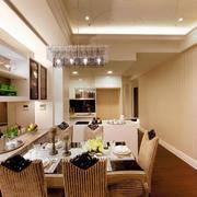 三室两厅简欧风格吊顶设计