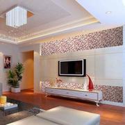 简约风格白色客厅背景墙