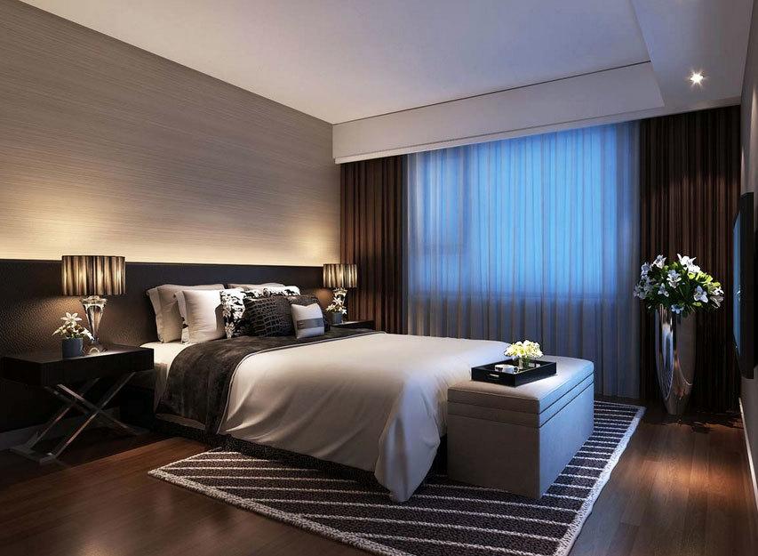 清新唯美的主卧室装修效果图