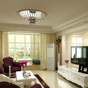 客厅创意吊顶灯饰装修