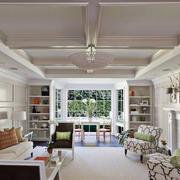 美式复古客厅吊顶