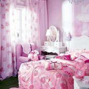 简约粉色儿童房沙发效果图