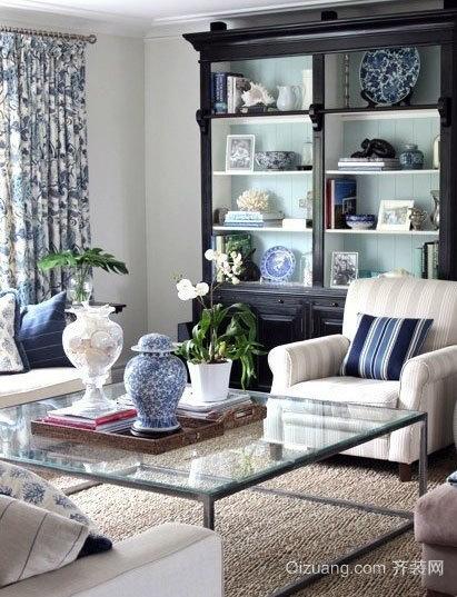 使家有艺术感的青花瓷装修效果图片