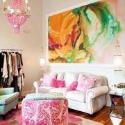 色彩明亮系简约客厅设计