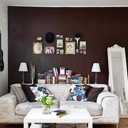 简约风格深色背景墙设计