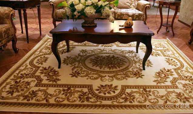使地面保持清洁的别墅家居地毯装修效果图