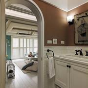 90平米房屋客厅拱形门