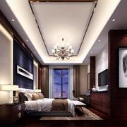 中式复式楼客厅效果图