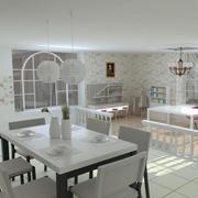 韩式田园风格家庭餐厅设计