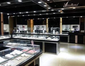都市珠宝玻璃展示柜装修效果图欣赏大全