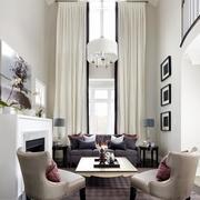 复式楼高挑客厅飘窗设计